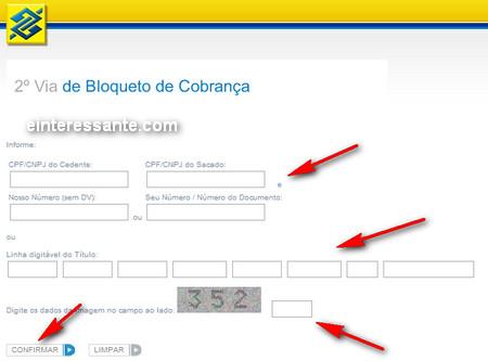 2ª Segunda Via de Boletos do Banco do Brasil