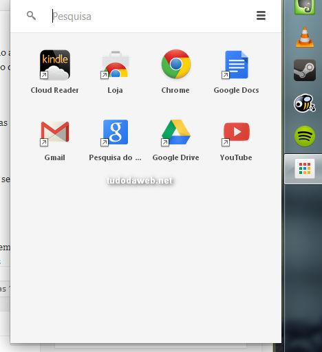 Inicializador de aplicativos do Chrome