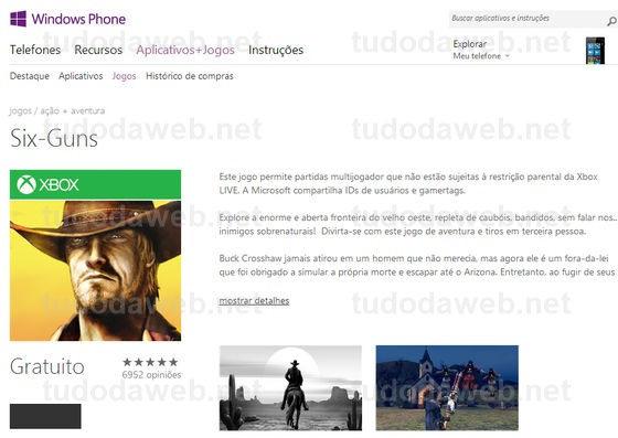 Jogos grátis para Windows Phone